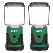 2 Pack 5W Mini LED Camping Lantern, Daylight White & Warm White, 6000K & 3000K