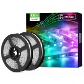 LED Strip Lights with Remote, Alexa Voice Control, Sync with Music, APP Control, Compatible with Alexa & Google Home, 10m LED Strip Lights, Decoration for House, Wedding Party and More(2.4GHz Only)