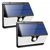 2 Pack Solar Security Light with Motion Sensor, 30 LED, Daylight White