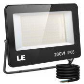 200W Outdoor LED Flood Light, 600W Metal Halide Equivalent, Waterproof IP65 Floodlight, 20000 Lumen, 5000K Daylight White, CE Listed