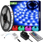 5M RGB LED Strips Lights Kit, Remote and Power Adapter Included