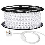 25M LED Strip Light, 220V-240V LED Tape Light, Super Bright 3528 SMD LEDs, Daylight White, IP65 Waterproof Outdoor Decorative Lighting Strings