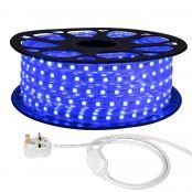 25M LED Strip Light, 220V-240V LED Tape Light, Super Bright 5050 SMD LEDs, Blue, IP65 Waterproof Outdoor Decorative Lighting Strings
