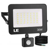 30W Motion Sensor LED Security Light, Outdoor Flood Lights, Daylight White, 75W MH Equivalent