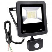 30W LED PIR Floodlight, IP65 Waterproof,