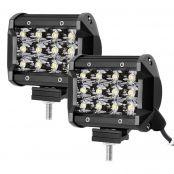 2 Pack 36W 3600lm LED Driving Fog Light, Spot Lights Work Light Bar, Mounting Bracket Included, Daylight White (LED Light Fixture)