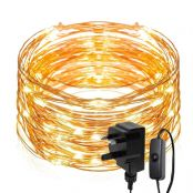 20M LED String Lights, 200 LED Fairy Lights Plug in, IP65 Waterproof Copper Wire, Mains Powered Warm White Christmas Lights for Outdoor, Indoor, Wedding, Garden, Gazebo and More