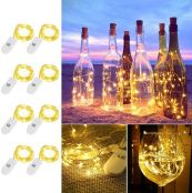 LE Small Fairy Lights Battery Powered, 1M 20 LED Mini String Lights, Warm White, Waterproof Copper Wire Lights for Bedroom, Wedding Decorations, Party and More, Pack of 8