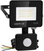 Lepro Security Lights Outdoor Motion Sensor, 10W Security Light, 850 Lumen, IP65 Waterproof, Ultra Thin Flood Light, PIR Lights Outdoor, Perfect for Garden, Forecourt, Backyard, Garages and More