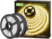 Lepro Warm White LED Strip Lights 10M (2x5M), 2400lm Flexible Lightstrip for Kitchen Cabinet Mirror Door and More (12V Power Supply Required)