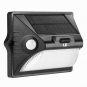 Solar PIR Motion Sensor Wall Light With RGB Color Changing