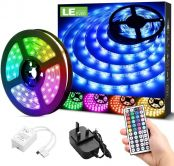 LE Outdoor LED Strip Lights 5M, 150 pcs SMD5050 LEDs, Waterproof IP65, Colour Changing LED Lights for Garden, Kitchen, Bar and More