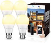 LE Alexa Smart Bulbs B22, 60W Equivalent, Dimmable LED Bayonet Bulbs, Compatible with Alexa and Google Home, No Hub Required, Pack of 4 (9W, 806lm, Warm White 2700K, 2.4GHz WiFi)