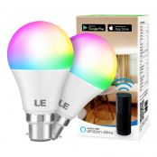 LE WiFi Smart Bulb B22, Work with Alexa and Google Home