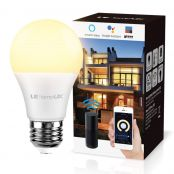 LE LampUX Wifi Smart Bulb E27 Edison, Compatible with Alexa and Google Home, 60W Equivalent, No Hub Required (9W LED, 850lm, Dimmable, 2700K Warm White)