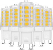 LE G9 LED Light Bulbs, Equivalent to 40W Halogen Bulbs, 3.5W, 400lm, Soft Warm White 3000K Capsule Bulb, Energy Saving for Chandeliers, Ceiling & Wall Light Fittings, Pack of 5