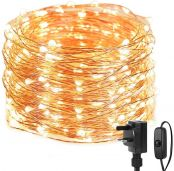 Lepro Christmas Fairy Lights Mains Powered, 20M 200 LED Warm White Christmas Lights, Waterproof Copper Wire String Lights for Indoor Outdoor, Wedding Decorations, Party, Bedroom, Garden and More
