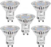 LE GU10 LED Bulbs 3W, 35W Halogen Spotlight Bulb Equivalent, 250lm Energy Saving Lightbulb, Warm White 2700K, 120° Wide Beam, Non-dimmable, Pack of 5
