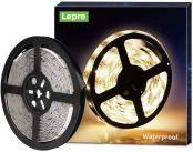 Lepro Outdoor LED Strip Lights 5M, 3000K Warm White LED Light, Waterproof IP65, 1200lm, 300 LEDs Rope Light for Kitchen, Bathroom, Garage (12V Power Supply Not Included)