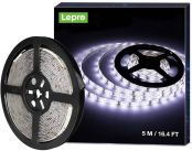 Lepro 5M Waterproof LED Strip Light, Daylight White 6000K, IP65, 1200lm Bright LED Tape Lights for Home, Kitchen, Rooms and More (12V Power Supply Not Included)