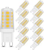 LE G9 LED Light Bulbs, Equivalent to 40W Halogen Bulbs, 3.5W, 400lm, Soft Warm White 3000K Capsule Bulb, Energy Saving for Chandeliers, Ceiling & Wall Light Fittings, Pack of 10
