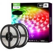 Lepro LED Strip Lights with Remote 10m, Alexa Voice-Control, APP Control, Compatible with Alexa & Google Home, RGB LED Strip Light, Decoration for House, Wedding Party and More(2.4GHz Only)