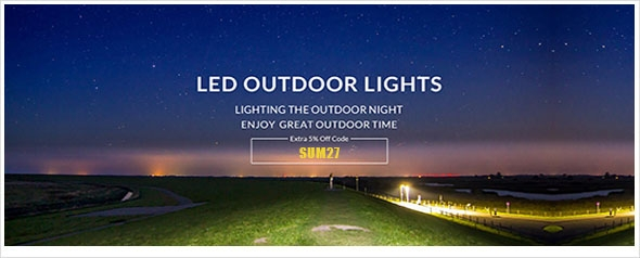 LED OUTDOOR LIGHT, Get extra 5% off for arrival of this summer
