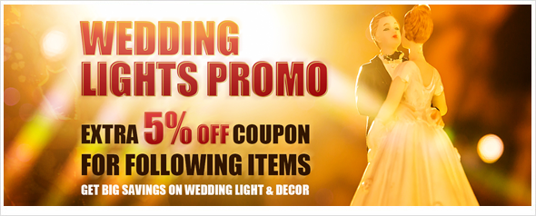 LED wedding lights enjoy extra 5% off coupon, shop now