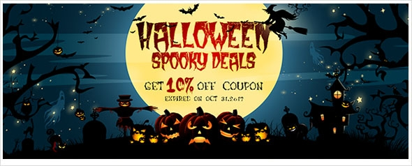 Halloween sale! Up to 10% extra coupon for LED flood lights, strip lights, etc