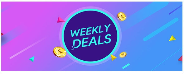 WEEKLY DEAL - Up to 85% off this week.